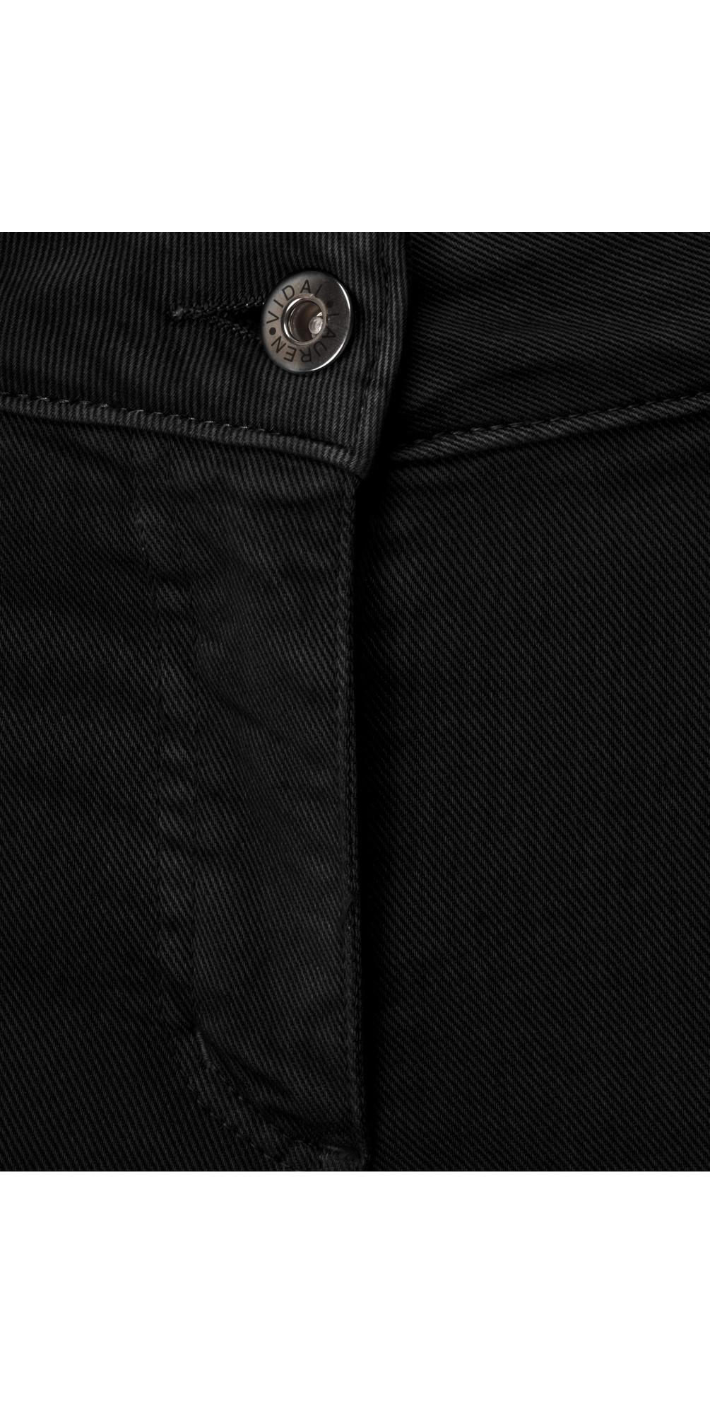 Frayed Hem Kick Crop Jeans main image