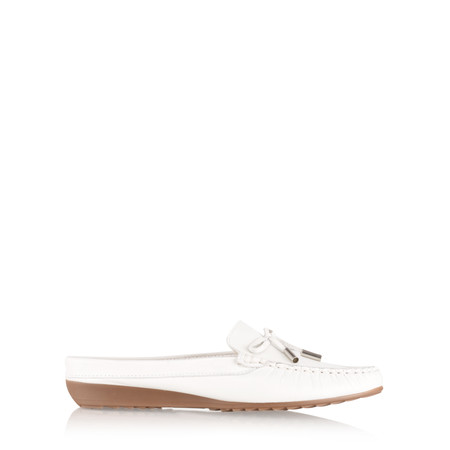 Gemini by GDF Lara Slide Loafer - White