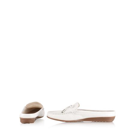 Gemini Label  Lara Slide Loafer - White