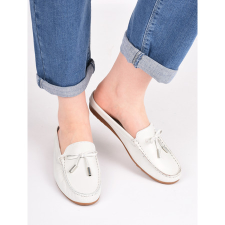 Gemini Label  Lara Slide Loafer - White