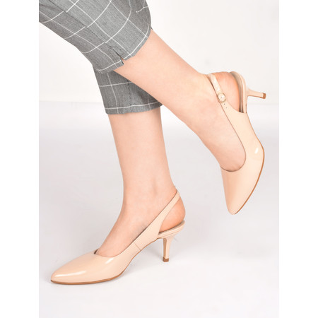 Gemini Label  Ingel Kitten Heel Shoe - Pink