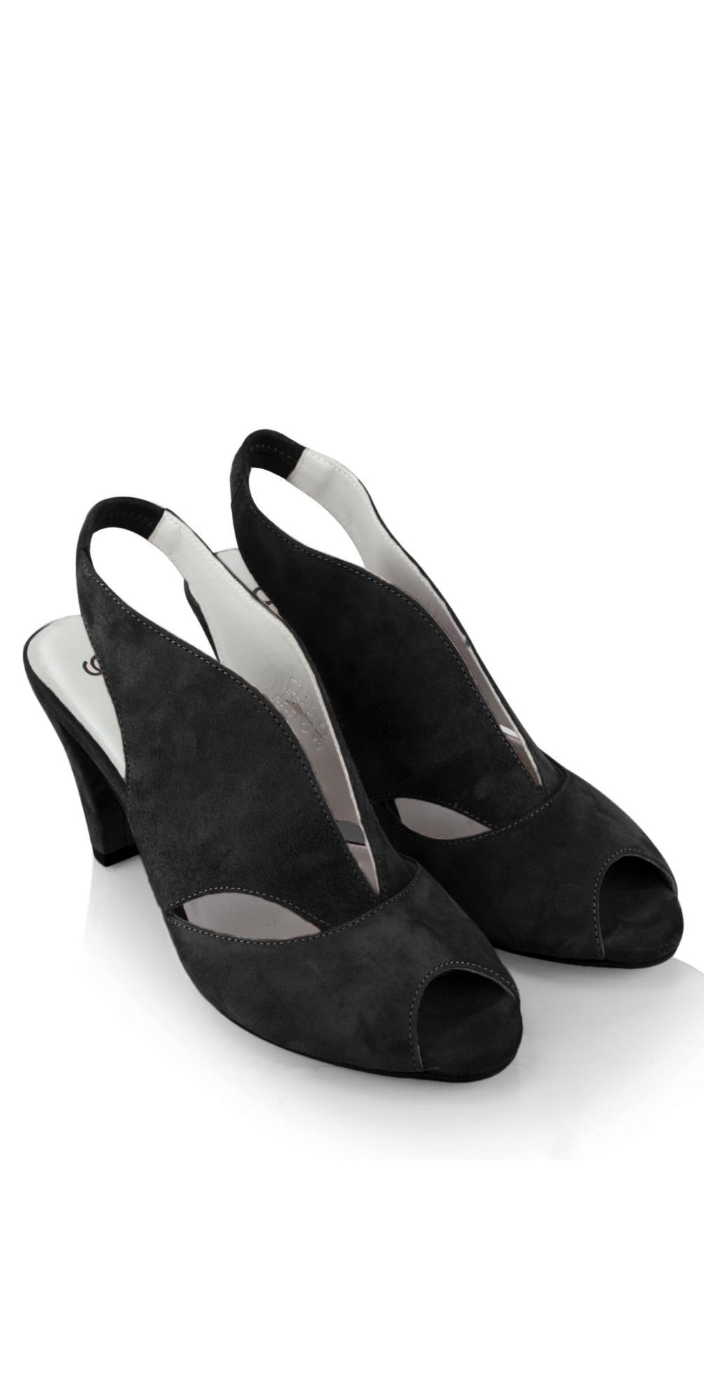 Valencia Black Suede  Sandal Shoe main image