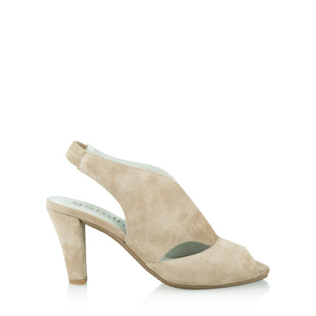 Gemini Label Shoes Valencia Taupe Suede Sandal Shoe - Brown