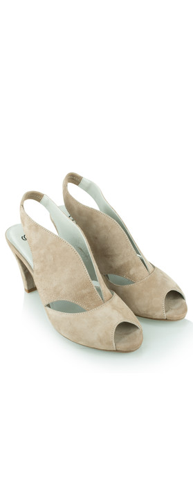 Gemini Label Shoes Valencia Taupe Suede Sandal Shoe Taupe