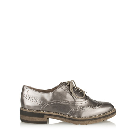 Tamaris  Myrine Lace Up Shoe - Metallic