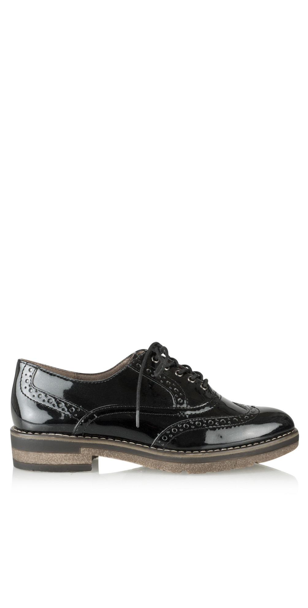 Black Myrine Lace Up Shoe