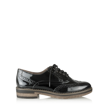 Tamaris  Myrine Lace Up Shoe - Black