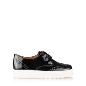 Caprice Footwear Romy Patent Leather Flatform Brogue