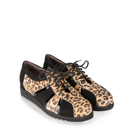 Gemini Label  Asin Leopardo Combi Sports Luxe Shoe - Black