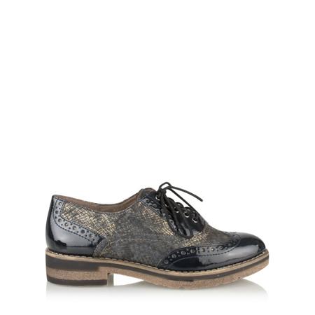 Tamaris  Myrine Lace Up Shoe - Blue