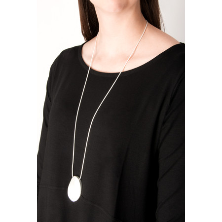 Dansk Smykkekunst Trixie Long Oval Necklace - Metallic
