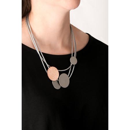 Dansk Smykkekunst Trixie Two Tone Necklace - Grey