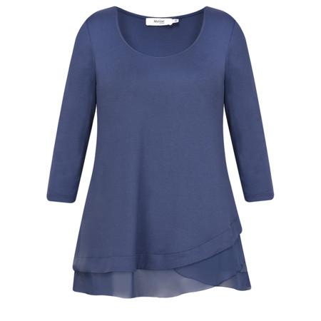 Myrine Mufli Crepe Top - Blue