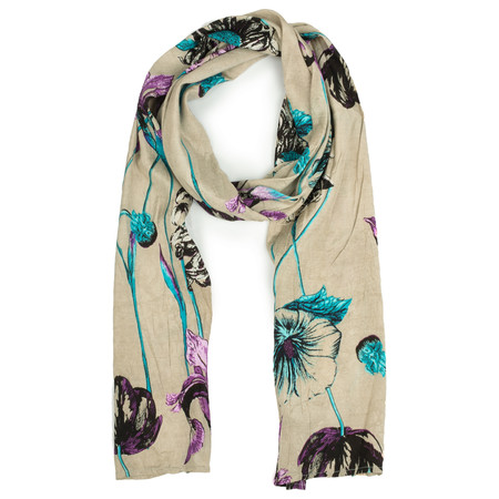 Masai Clothing Pacific Floral Along Scarf - Blue