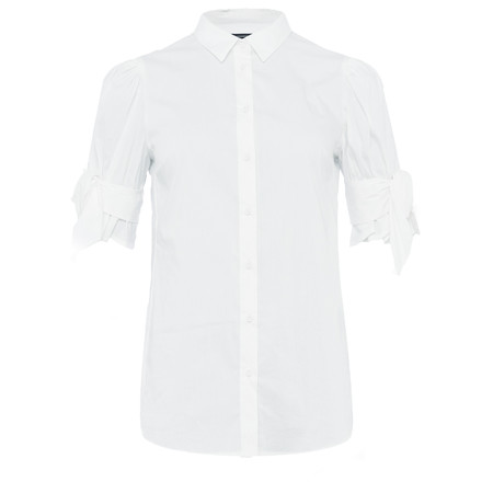 French Connection Eastside Bow Shirt - White