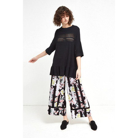 French Connection Enoshima Suiting Culotte - Black