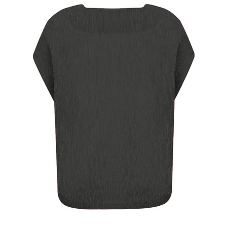 French Connection Susui Crinkle Top - Black