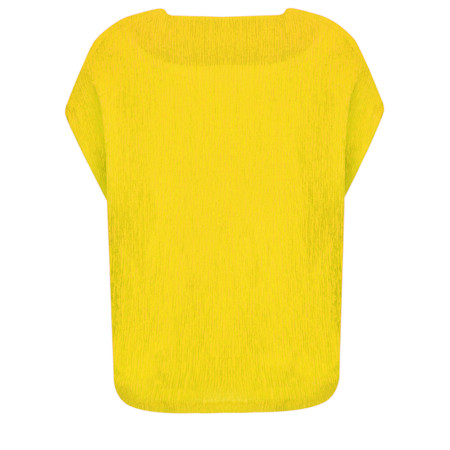 French Connection Susui Crinkle Top - Yellow