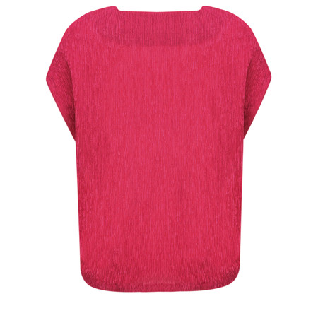 French Connection Susui Crinkle Top - Pink