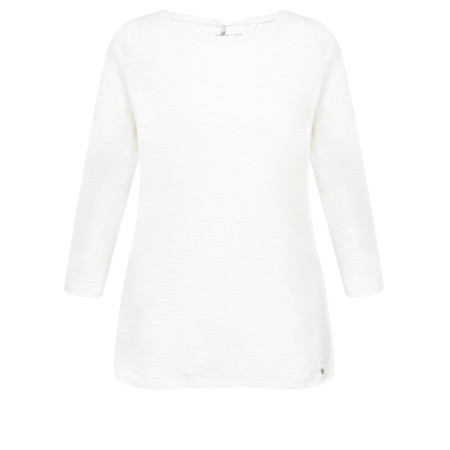 Gerry Weber Yesterday Blooms Frilled Neck T-Shirt - White