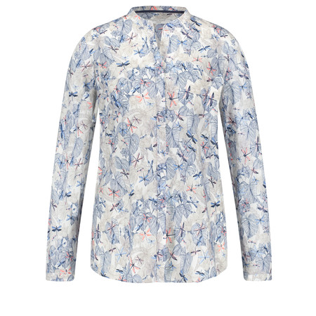 Gerry Weber Yesterday Blooms Dragonfly Print Blouse - Blue