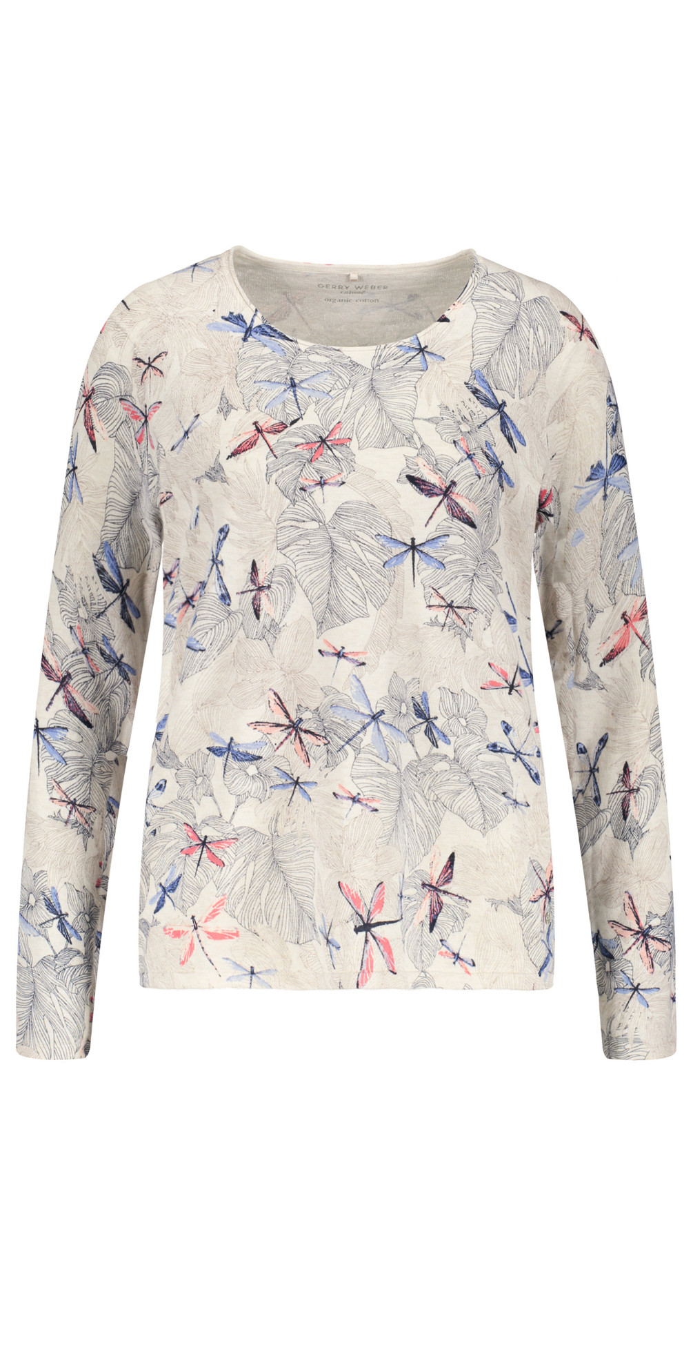 Blueecruwhite Yesterday Blooms Dragonfly Print Jumper