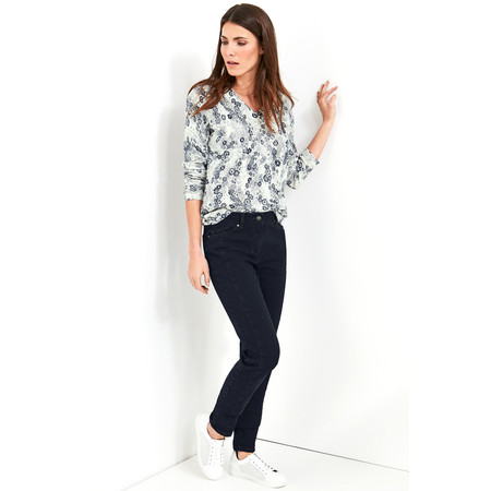 Gerry Weber Yesterday Blooms Seam Detail Jeans - Blue