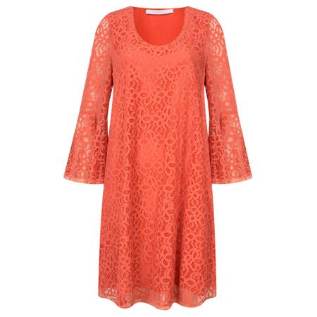 Lauren Vidal Lace Swing Tunic Dress - Orange
