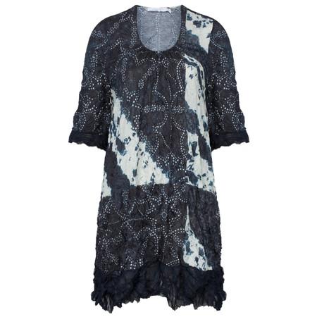 Lauren Vidal LV Vintage Crinkle Dress - Blue