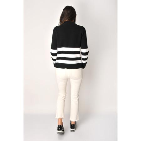 Lauren Vidal Frayed Hem Kick Crop Jeans - Off-White