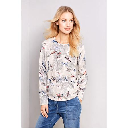 Gerry Weber Yesterday Blooms Dragonfly Print Jumper - Multicoloured