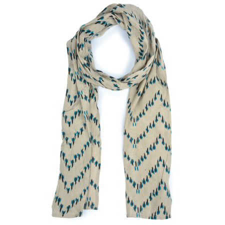 Masai Clothing Pacific Zig-Zag Along Scarf - Blue