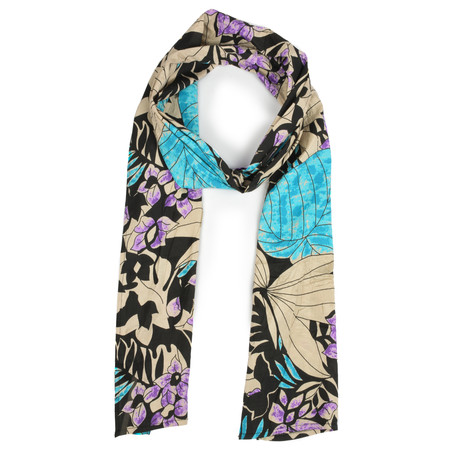Masai Clothing Pacific Bold Floral Along Scarf - Blue
