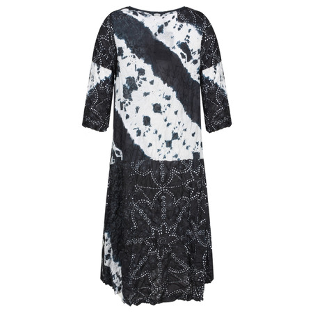 Lauren Vidal LV Vintage Printed Crinkle Tunic Dress - Blue