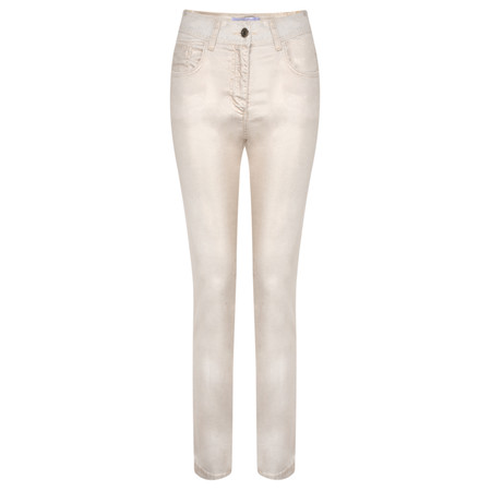 Lauren Vidal Luxury Coated Jeans - Gold