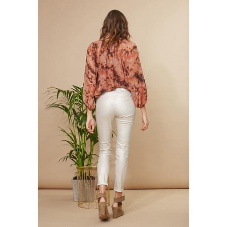 Lauren Vidal Luxury Coated Jeans - Gold