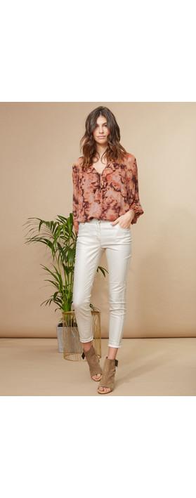 Lauren Vidal Luxury Coated Jeans Gold