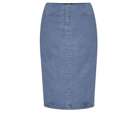 Robell Maraike Light Denim Power Denim Skirt - Blue