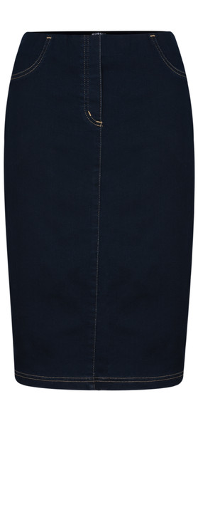 Robell Maraike Navy Power Denim Skirt Navy