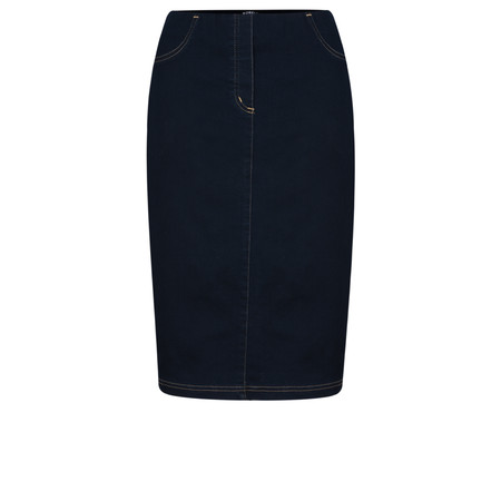 Robell Maraike Navy Power Denim Skirt - Blue