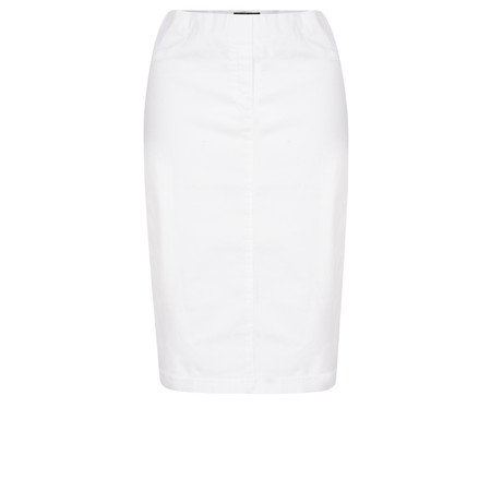 Robell  Maraike Power Denim Skirt - White
