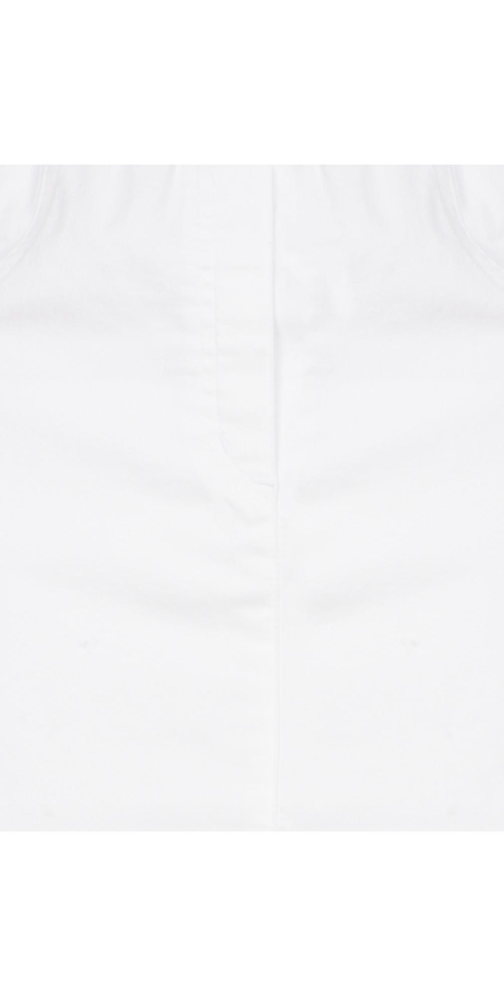 Maraike White Power Denim Skirt main image