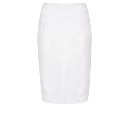 Robell  Maraike Power Denim Skirt - White
