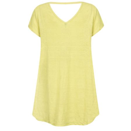 Foil Linen Swing Top - Yellow