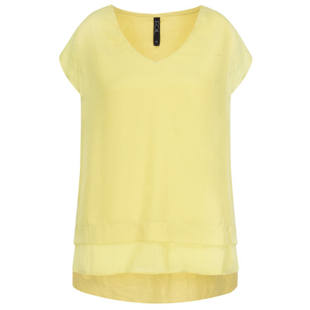 Foil Silk Front Top - Yellow