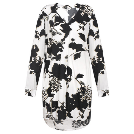 Sandwich Clothing Floral Silhouette Long Blouse - Black