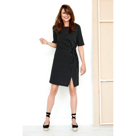 Sandwich Clothing Cotton Blend Stripe Dress - Black
