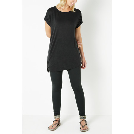 Sandwich Clothing Linen Jersey Top - Black