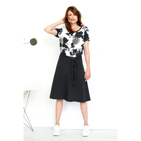 Sandwich Clothing Floral Silhouette Blouse - Black