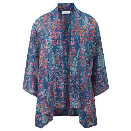 Adini Lupin Print Lupin Kimono - Blue